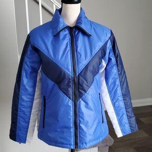 Retro Contrast Stripe Windbreaker Full-Zip Jacket